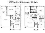 Floor Plan. 4 bed, bonus, den, 2 1/2 bath.