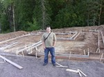 8/25/2011. Framing for the foundation.