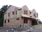 9/22/2011. Another view of the house with a partial roof.