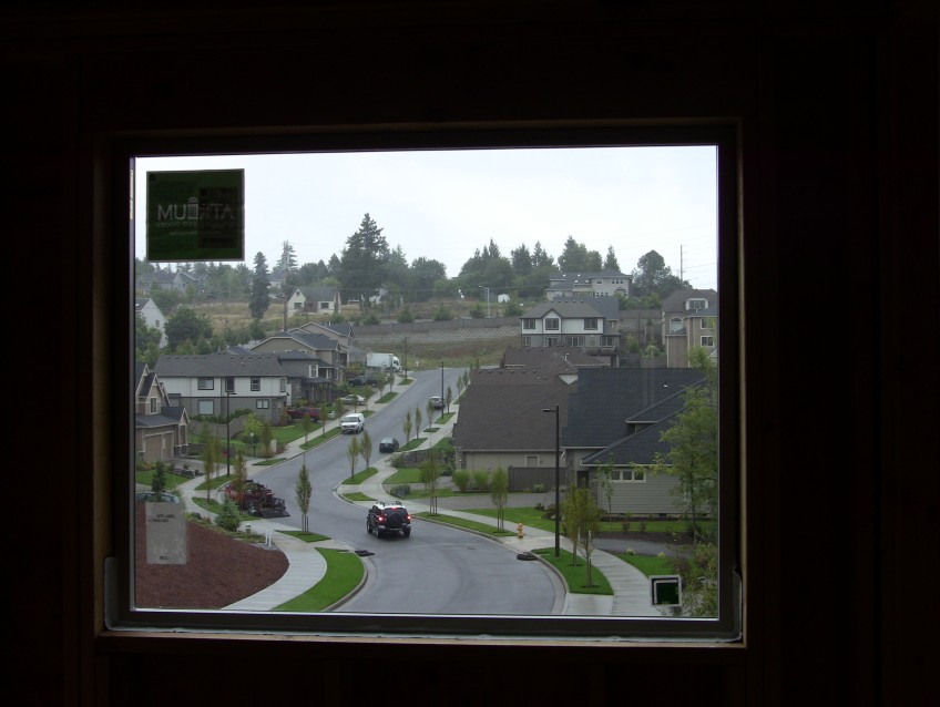 10/7/2011. View out of the window at the top of the stairs.